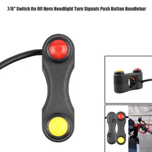 """1× Motorcycle 7/8"""" Switch On Off Horn Headlight Turn Signal Button Handlebar"""