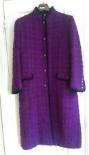 vintage jaeger purple  black check wool coat 10