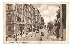 Postcard Rome Italy Via X.X Settembre unposted  (B4c)