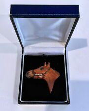 ACCELERATE LIMITED EDITION HALTER STYLE  PORTRAIT PIN RARE HORSE RACING JUSTIFY