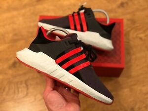 ADIDAS EQT SUPPORT 93/17 TRAINERS BLACK RED YUANXIO UK5.5 US6 DB2571 BOOST NEW