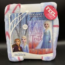 DISNEY FROZEN 2 BLANKET THROW  II ELSA Silky Soft Nature is Magical Gift NEW!!!