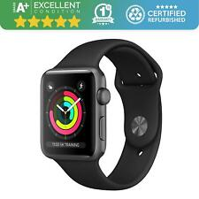 Apple Watch Series 3 38mm Space Grey Black Sports Band Grade A+
