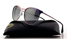 New Authentic RAY-BAN ERIKA METAL Violet Grey Gradient Sunglasses RB 3539 195/11