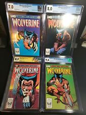 WOLVERINE 1,2,3,4 CGC FULL RUN LOT Limited Series #1 SIGNED by Chris Claremont