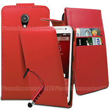 Flip Wallet Leather Case Cover With Card Slot For Motorola Various Phone Models