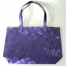 NWT EMILIO PEPE TOTE BAG GEOMETRIC DESIGN TRENDY Matte Purple Italy