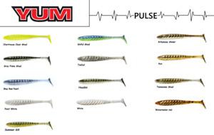 "YUM Pulse Swimbait, 3-1/2""  8 per Pack, Choice of Colors"