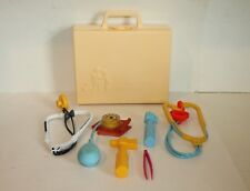 VINTAGE 1977 FISHER PRICE MEDICAL KIT HARD CASE WITH 6 PIECES