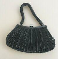 Monsoon Small Purse Bag Handbag Ruched Satin Retro 20 30s Gatsby Deco Evening