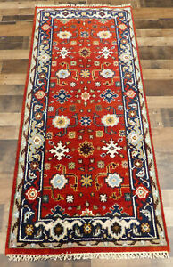 "2'7""x6' New Narrow Hand knotted Wool super Mahal Oriental area rug runner"