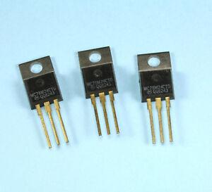 12pcs MC78M24CT +24VDC 0.5A Voltage Regulators, Gold leads, TO-220 Package