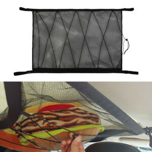 Universal Car Roof Ceiling Cargo Net Mesh Storage Bag Pockets Pouch For SUV Van