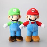 "2pcs/Lot Super Mario Bros. Mario& Luigi Plush Toys Cartoon Soft Stuffed Dolls10"""