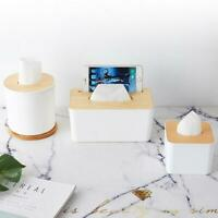 Home Kitchen Wooden Plastic Tissue Box Cover Solid Wood Napkin Paper Holder