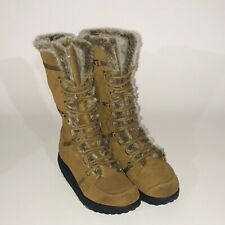 Skechers Shape Ups Tan Brown Faux Fur Knee Boots SN 11812 Women's US Size 11