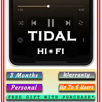 Tidal HiFi Service | up to 6 users | WORLDWIDE | Master Quality with free GIFT