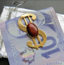 Money Clip with Red Tigereye Stone.