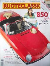 Ruoteclassiche n°233 2008 Fiat 850 Spider Ferrari Pinin 1980 - Giugiaro [P50]
