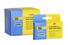 Tacwise CT-45 10mm white cable staples  Boxed in 5,000