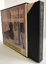 1959 Music Of The World's Great Composers 12 LP Box Set RCA Records Box Set VG