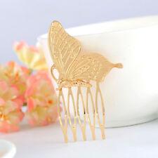 2PCS Women's Vintage Butterfly Alloy Hair Comb Headwear Party Fashion Headdress