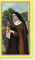 St. Clare - Novena - Relic Laminated Holy Card - Blessed by Pope Francis