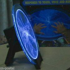 """Blue 12"""" plate disk plasma lightning light lamp for Holiday Party Club Disco Bar"""