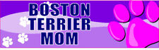 BOSTON TERRIER MOM CUTE PET DOG STICKER