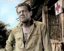 """WILLIAM HOLDEN THE BRIDGE ON THE RIVER KWAI 1957 8x10"""" HAND COLOR TINTED PHOTO"""