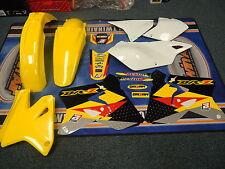 New DRZ 400 S/E/SM 00-14 BB Graphics & Plastic Kit DRZ400 Yellow/White Plastics
