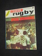 RUGBY L EQUIPE MAGAZINE N° 60 1974 FRANCE AFRIQUE DU SUD BOKS LA VOULTE