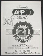 "Amanda Coetzer Signed 1998 Tennis Program ""Little Assassin"" South Africa COA"