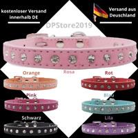 ★ Edles Designer Halsband mit Strass | Hundehalsband | Katzenhalsband