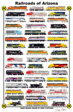 "Railroads of Arizona 11""x17"" Railroad Poster by Andy Fletcher signed"