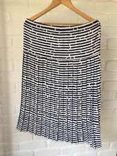 Vintage Midi Skirt Or Strapless Dress Blue & White Stripe Size 12 Retro