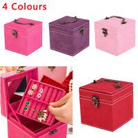 Hot Extra Large Jewellery Storage Box Vanity Case Make up Cosmetic Beauty Box UK