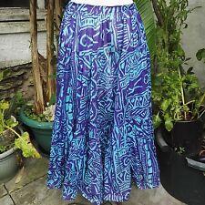 Terrand Skirt Blue abstract print Vintage 60s