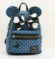 Loungefly Disney Minnie Mouse Denim Backpack - NEW!
