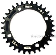 RSP Narrow Wide Chainring 32T 104BCD Mountain Bike MTB Bicycle Black 104mm bcd
