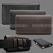 Leather Magnetic Flip Cover Belt Clip Pouch Case for Apple iPhone Samsung Galaxy