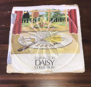 Dartington Crystal Daisy Cheese Plate