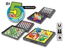 5 in 1 Chess Games Set Ludo Draughts Snakes and Ladders UK SELLER Fast DISPATCH
