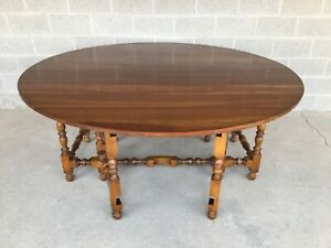 "STICKLEY CHERRY VALLEY DOUBLE GATE LEG 72"" DROP LEAF DINING TABLE"