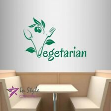 Vinyl Decal Vegetarian Food Olives Healthy Kitchen Restaurant Wall Decor 1739