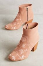 NEW $358 Anthropologie Huma Blanco Embroidered Prudence Ankle Boots Size 37