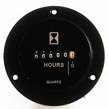 Round Hour Meter Surface or behind panel mnt 6 - 80 VDC