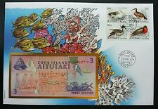 Cook Islands Corals Birds 1993 Reef Underwater Life Fish FDC (banknote cover)