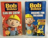 "Lot of 2 Bob The Builder VHS Kids Tapes ""Digging For Treasure"" ""Can-Do Crew"""