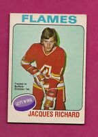 1975-76 OPC # 117 FLAMES JACQUES RICHARD  TRADE EX CARD (INV#6762)